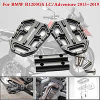 Für BMW R1200GS R1200 GS R 1200 GS 2013-2019 CNC Aluminium Motorrad Billet Breite Fußrasten Pedale Rest fußrasten