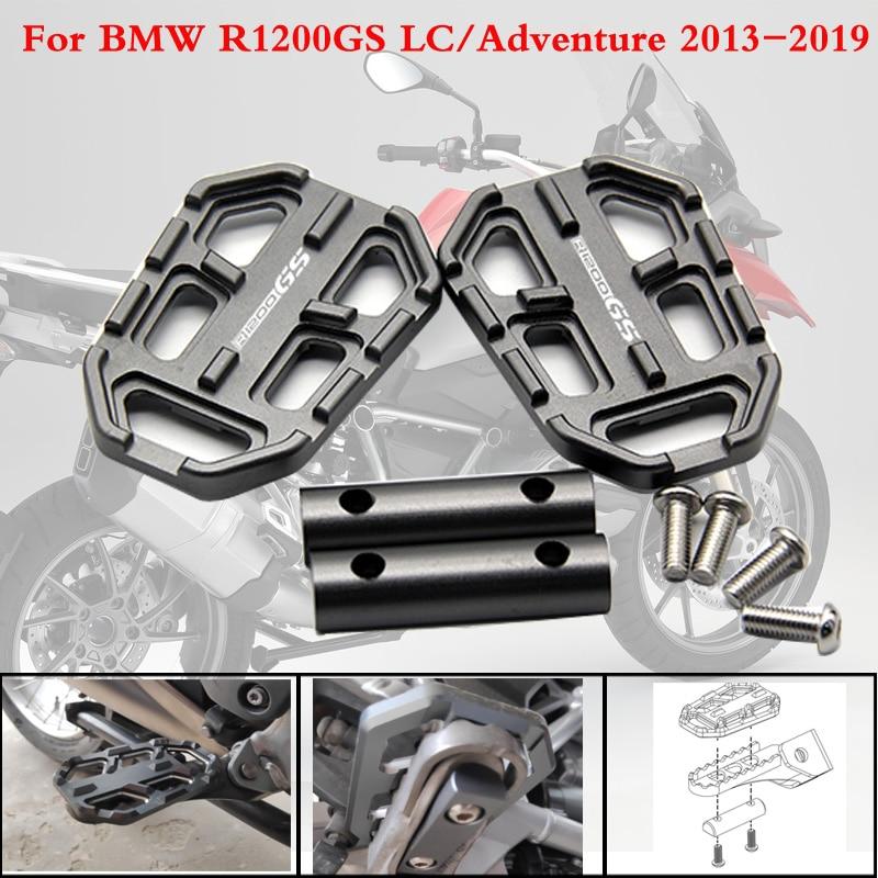Para BMW R1200GS R1200 GS R 1200 GS 2013-2019 CNC de Alumínio Da Motocicleta Boleto Wide Pé Pegs Pedais Resto footpegs