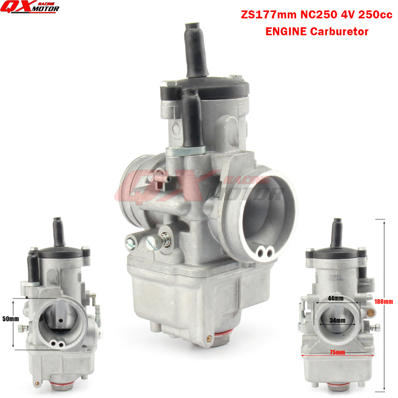JK PZ34J 34mm Carburetor For 177mm Zongshen 250cc water cooled 4 valve Engine xmotos kayo apollo Bse nc250 Dirt bike ATV Quad 250cc water cooled cylinder kit zongshen engine with piston ring engine gaskets kayo xmotos apollo tmax pit dirt bike parts