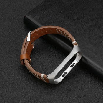 Bracelet for Xiaomi Mi Replacement Leather Wristband Band Strap+ Metal Case For Xiaomi Mi Band 3 Wholesale supplier dropshipping