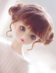 Куклы BJD, красные, коричневые искусственные мохеровые парики для 1/3 1/4 1/8 BJD DD Кукла SD MSD двойные клецки, грандиозные волосы