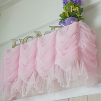 Sweet lace yarn princess cake layers hanging air conditioner cover curtain LCD covers home textile wedding decoration custom