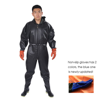 1mm Waterproof Fishing Overalls Men Breathable Chest Waders respirant Boots Black Fishing Pants cuissardes peche a la mouche