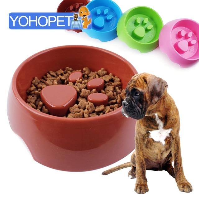 Pet Dog Preventing Choking Dog Feeder Slow Eating Pet Food Bowl
