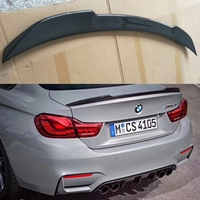 CS style carbon fiber rear truck spoiler For BMW M4 Coupe F82 M4 Spoiler carbon Wings car styling 2014 UP