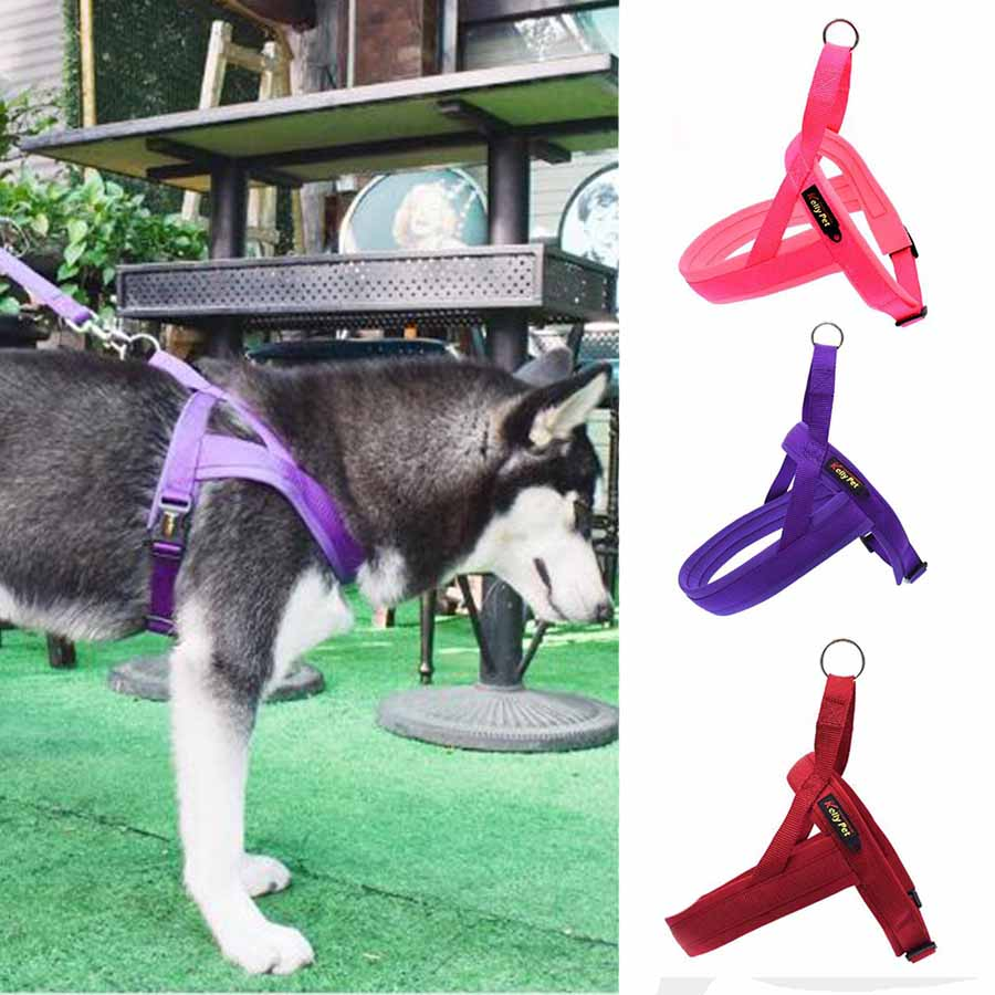 Nylon Pet Supplies Adjustable Dog Harness Medium Large Reflective Dogs Do Not Pull Training Vest For Pet Dogs Walking Harness
