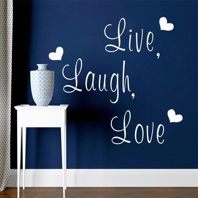 Muurstickers Slaapkamer Love.Live Laugh Love Inspirationa Viny Muurstickers Sticker Decoratieve