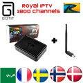 Caixa de IPTV MAG254 Real IPTV Árabe Francês Europa REINO UNIDO 1700 Canais IPTV Linux 2.6.23 STiH207 MAG 254 Conjunto Top Box