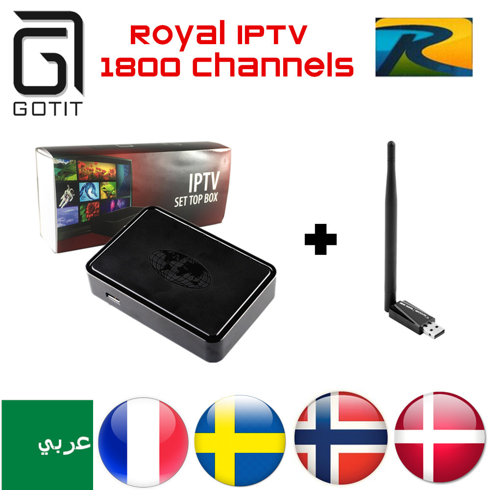 MAG254 IPTV Box Royal IPTV Arabic French Europe UK IPTV 1700 Channels Linux 2.6.23 STiH207 MAG 254 Set Top Box