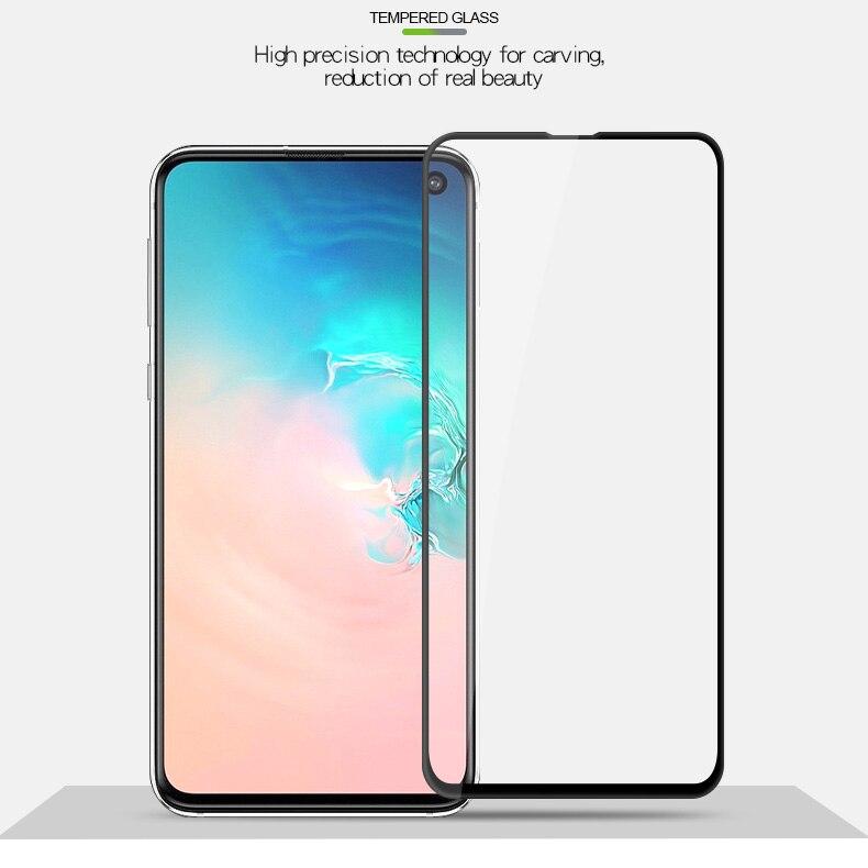 Verre de protection d'écran sur pour Samsung Galaxy S10 E S10e S 10e A30 A50 A10 A90 A40 M50 M30 M10 M20 Verre trempé Tremp