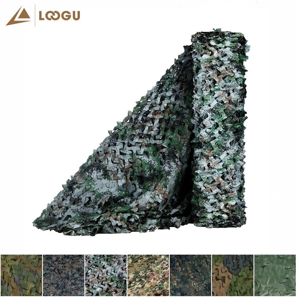 LOOGU E 10 M * 1.5 M Shader soleil voiture tente Camouflage filets forêt Didital sans bord reliure maille Jungle fête décorations