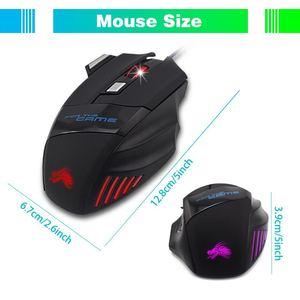 Image 3 - 와이어 게이밍 마우스 7 버튼 5500 인치 당 점 게이머 마우스 Win 2000 7 8 10 게이머 USB 광 마우스 PC 컴퓨터