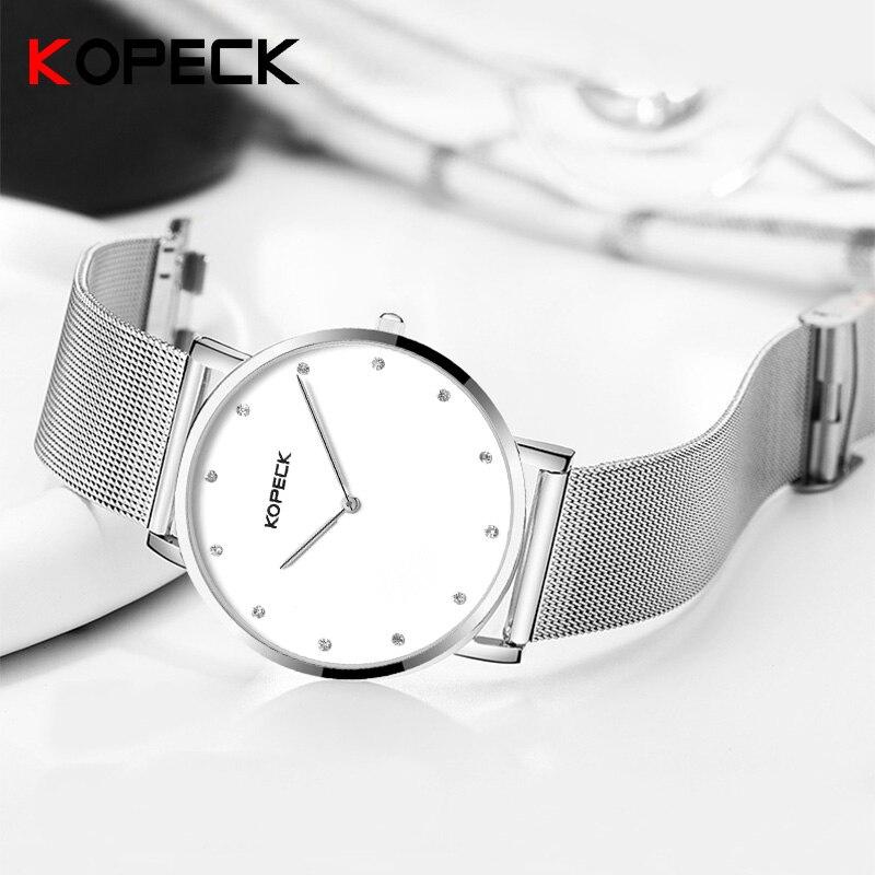 Kopeck Men's Quartz Watch Luxury Brand Man Waterproof Fashion Casual Sport Watches Male Milan Stainless Steel Strap Wristwatch