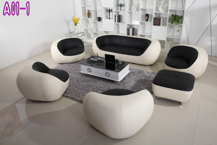 Leisure Sofa Sets Design Genuine Leather In Living Room Sofas From Furniture On Aliexpress