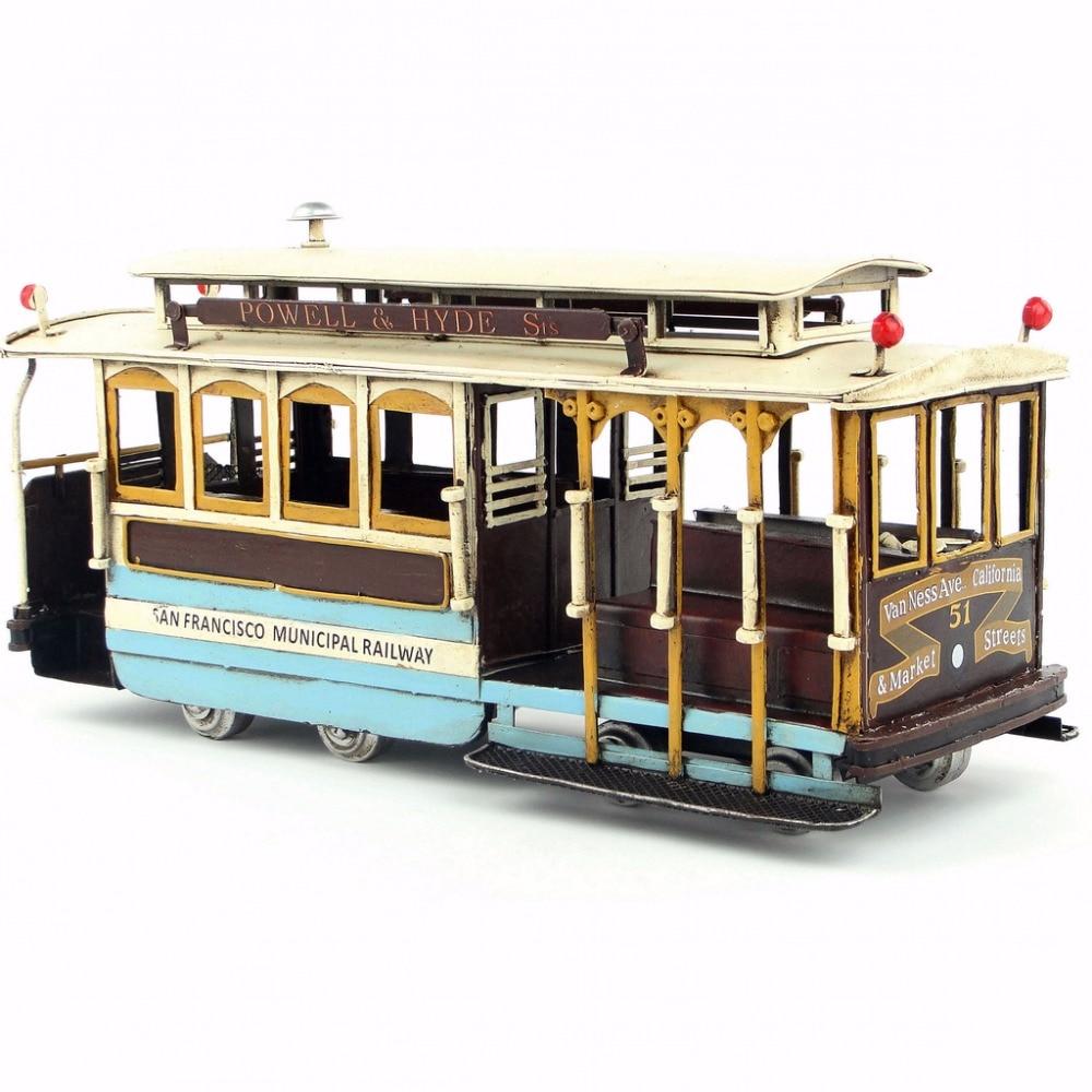 Antique handicraft San Francisco tram model decoration home furnishings crafts for home pub cafe decoration or