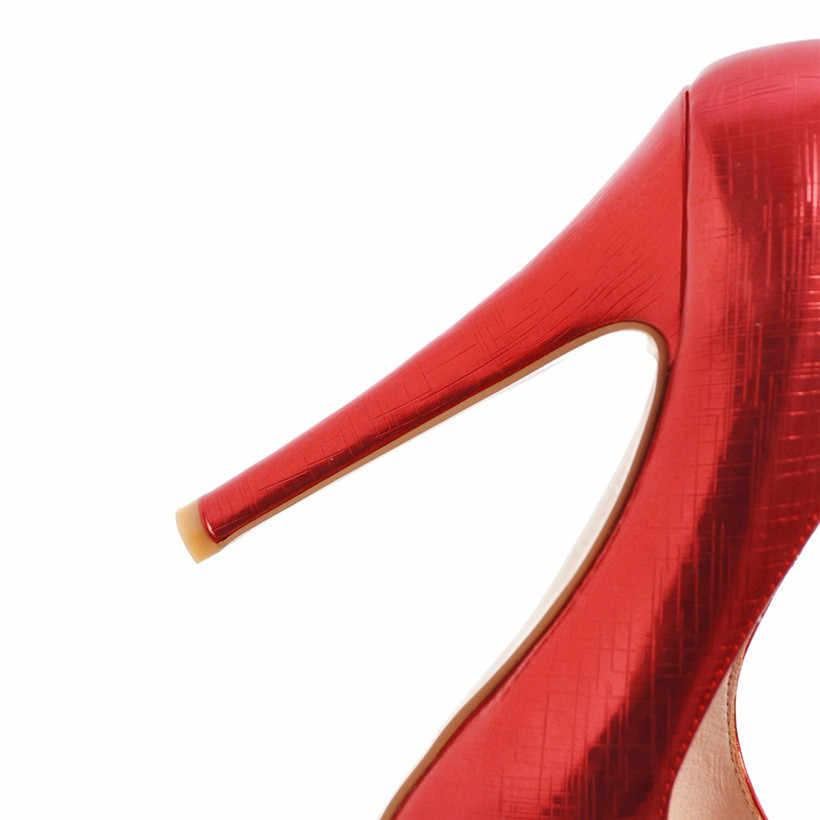 14 Cm Hoge Hak Platform Vrouwen Pompen Peep Open Teen Pu Leer Club Wedding Slip Dames Hoogte Toenemende Dunne spike Stiletto