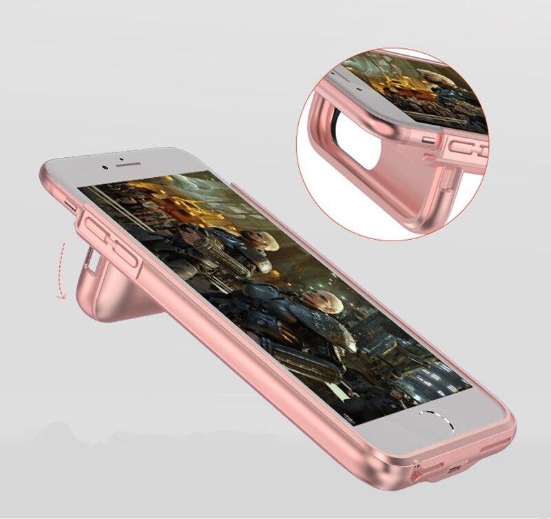 bilder für Suqy Ultradünne Ladegerät Fall Für iPhone 6 6 s 7 Bewegliche Energienbank Pack Unterstützungsbatterie-kasten Cover Magnetische funktion
