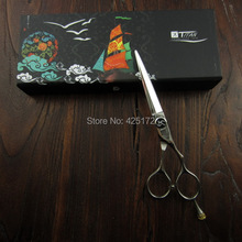 free shipping Professional hair scissor     TITAN hair shears  hair scissors cobalt  6.0inch barber scissors