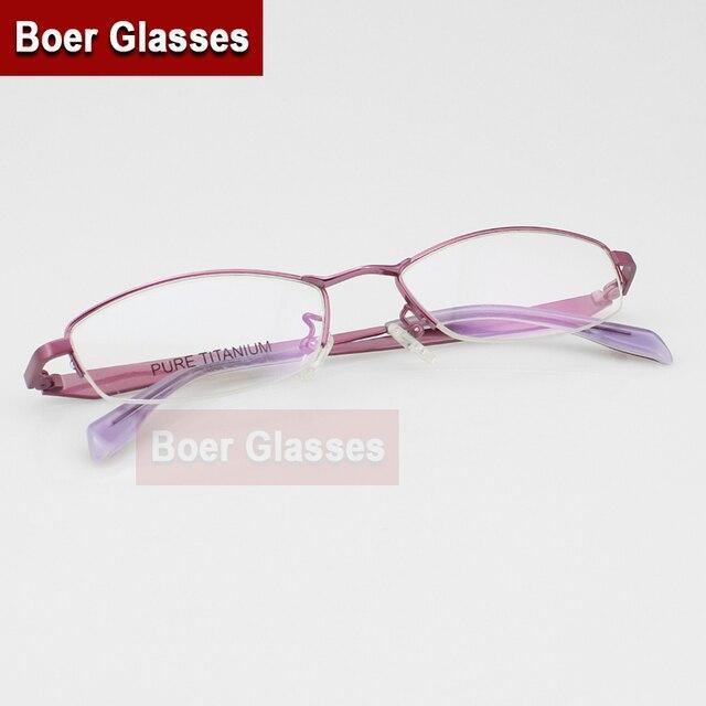 Лучшая цена! Half-рим чистого титана женская мода очки Optiacl очки кадр Rxable 1298 ( 54 - 18 - 140 )