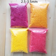 15g/Lot Polystyrene Styrofoam Balls Bottle DIY Snow Mud Particles Accessories Slime Balls Small Tiny Foam Beads For Foam Filler