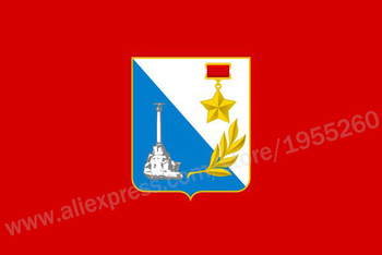 Flag of Sevastopol[Note 1] 3 x 5 FT 90 x 150 cm Flags of the federal subjects of Russia Banners image