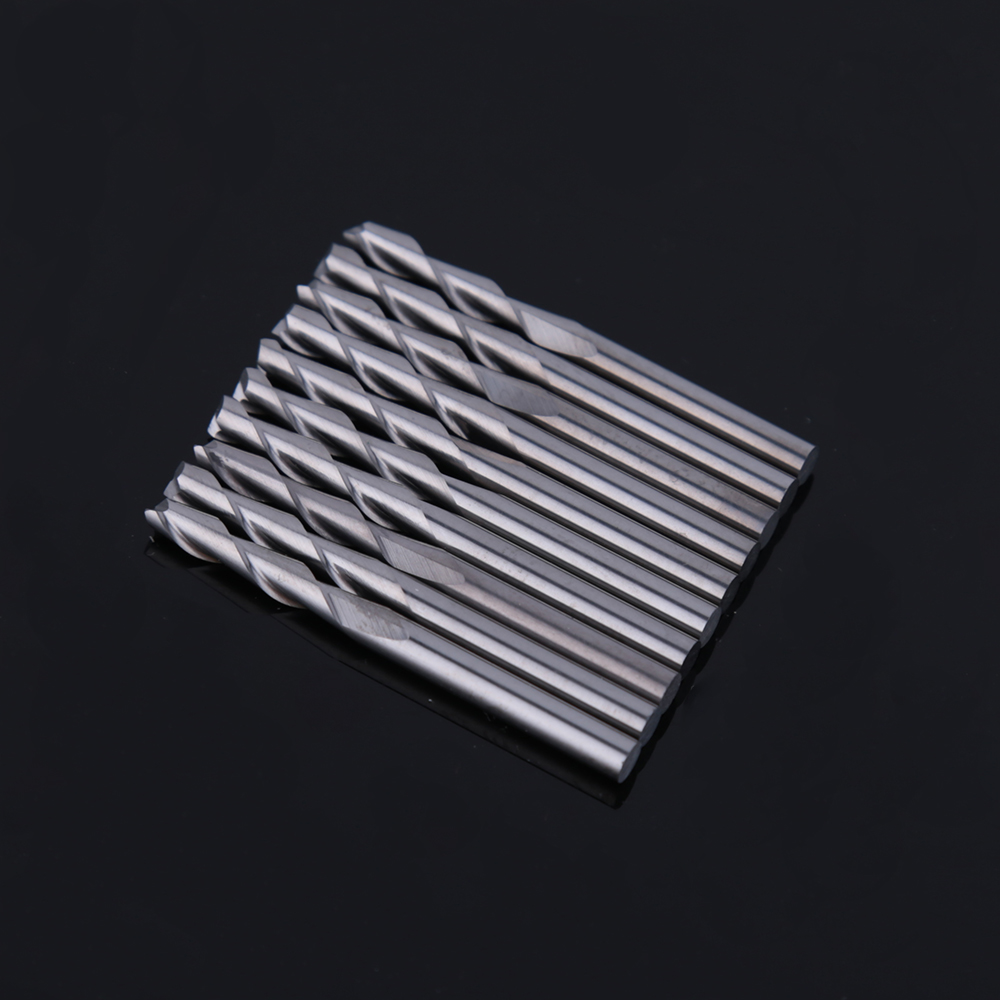 10PCS 3.175 x 17 mm double Flute CNC Router Bits two Flute Spiral End Mills Carbide Milling Cutter Spiral Cutter free shipping 10pcs 6x25mm one flute spiral cutter cnc router bits engraving tool bits cutting tools wood router bits