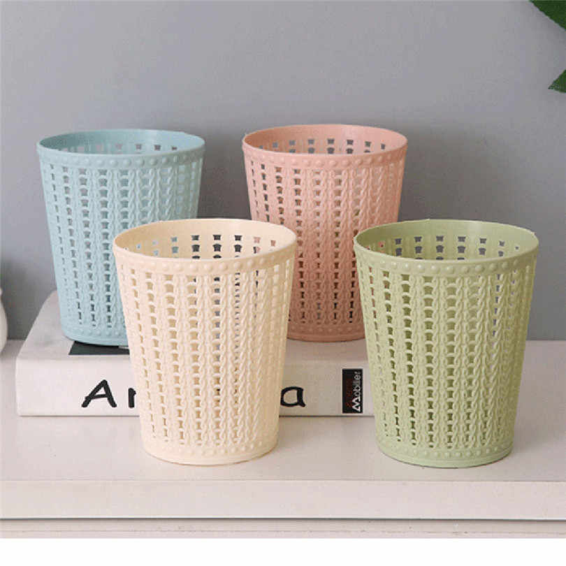 Trumpet Desktops Mini Trash Can Creative Covered Kitchen Living Room High Quality Housekeeping Container Organizers JJ20