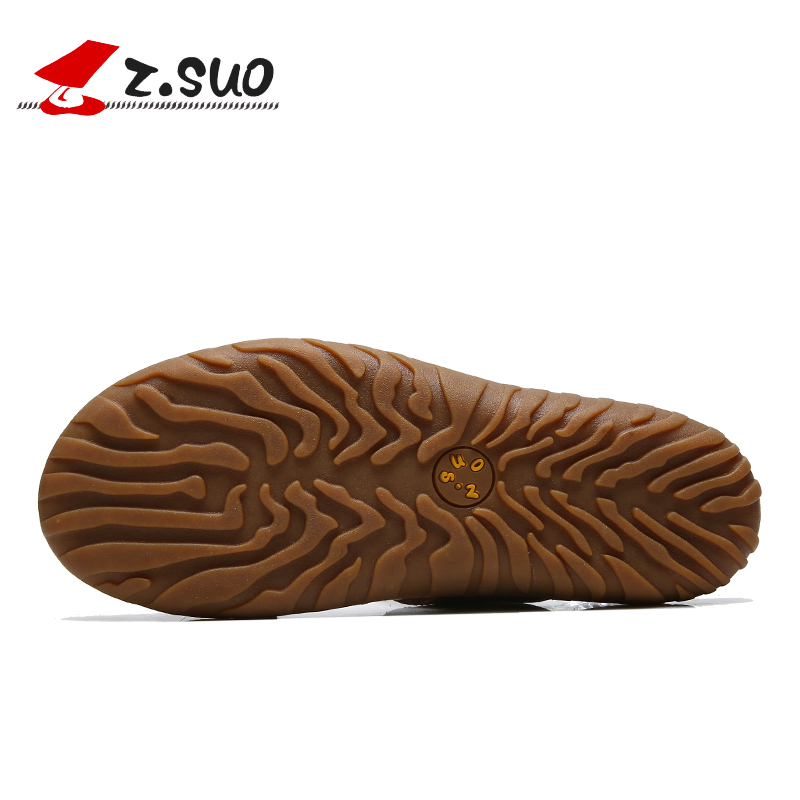 b7dce71ff Z.Suo 2019 Brown Men Slippers Big Size 45 46 47 Genuine Leather Outdoor  Mens Flip Flops Fashion Beach Sandals Shoes For Men 619N-in Slippers from  Shoes on ...