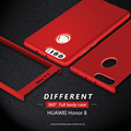 360 ultra delgada capa coque teléfono móvil case + vidrio templado para huawei honor 8 cubierta protectora de cuerpo completo para móviles teléfono