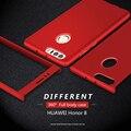 360 ultra fino capa coque mobile phone case + vidro temperado para huawei honor 8 capa full body capa protetora para celular telefone