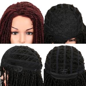 Image 5 - MAGIC Hair 22 Inch Synthetic wigs Dreadlocks Braid Hair Synthetic Dreads Braiding wigs Extension Brown Braids Faux Locs Hair