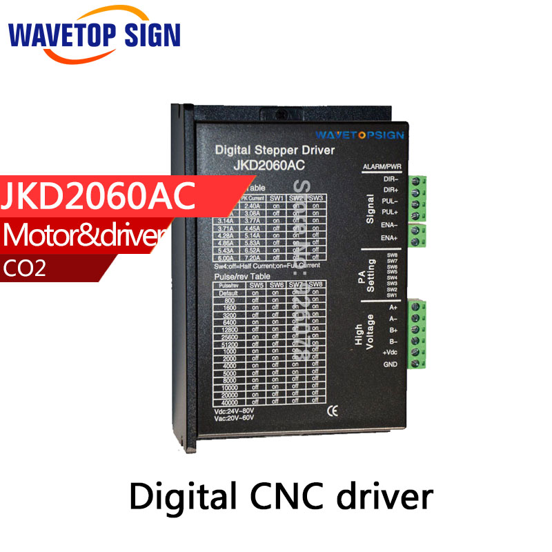 two phase stepper motor driver JKD2060AC use 86serial stepper motor  nema 34motro driver nema24 3nm 425oz in integrated closed loop stepper motor with driver 36vdc jmc ihss60 36 30