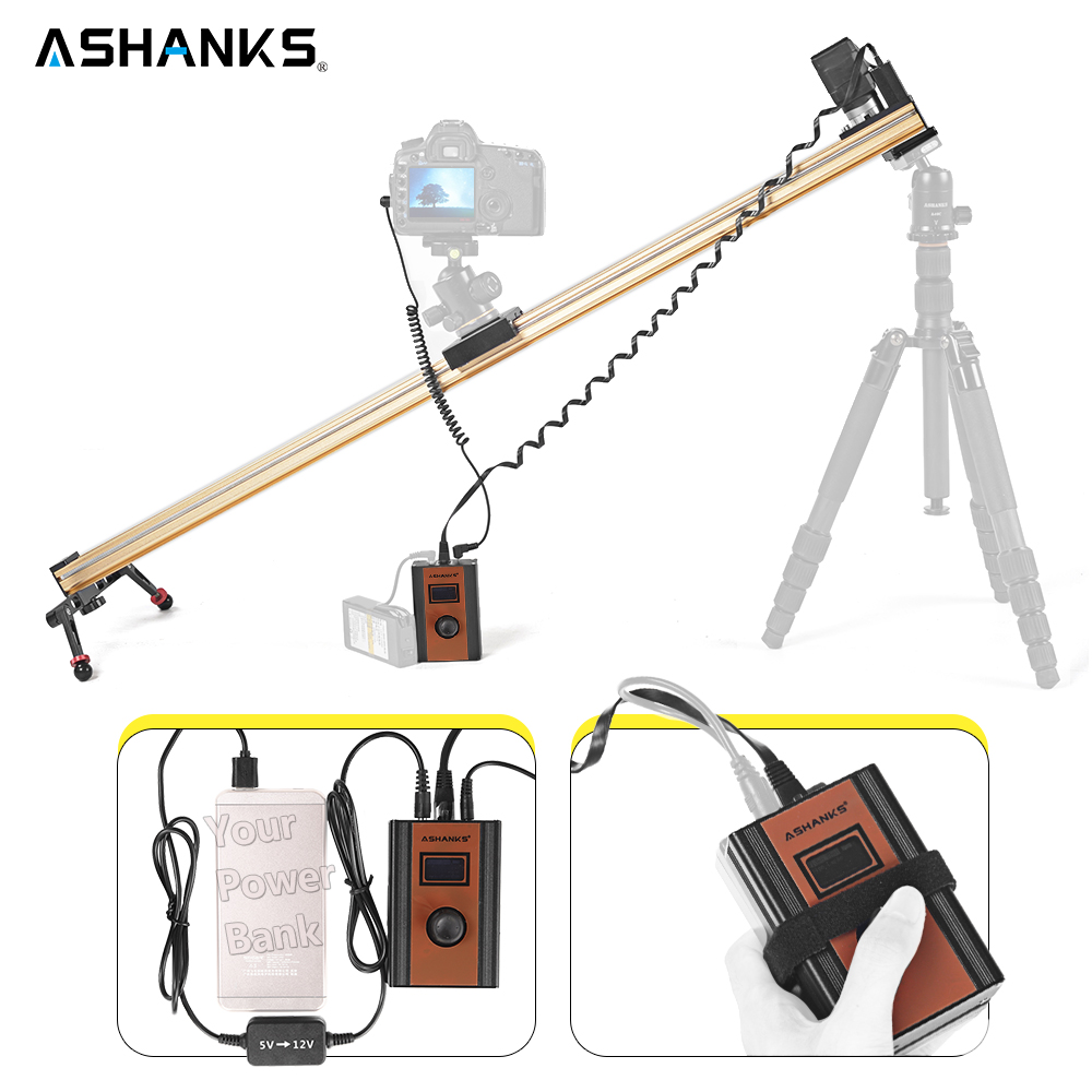 Ashanks Алюминий моторизованный Камера слайд-Электрический Управление timelapse задержки Долли железнодорожных путей слайдер для фотографии pro ...