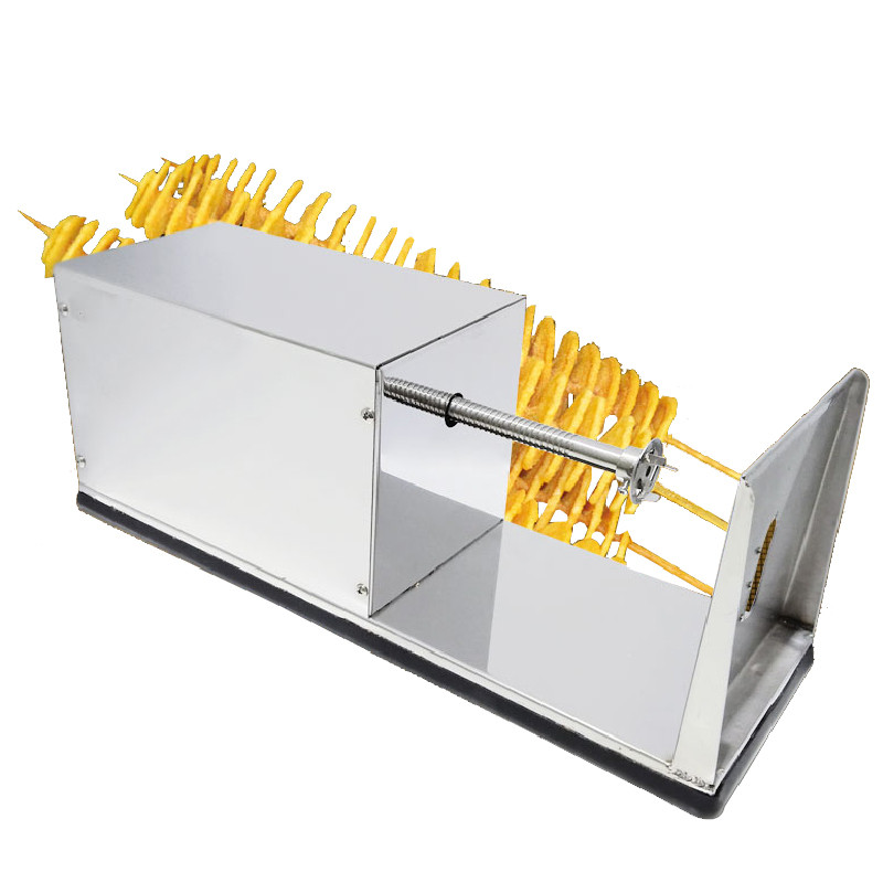 Beijamei Commercial French Fry Cutter Stainless Steel Spiral Potato Slicer Twist Potato Chips Making Machine Potato Cutter potato spiral cutter slicer chips