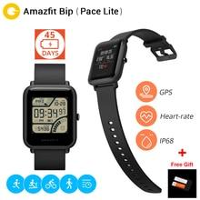 gift film Xiaomi Huami Amazfit Bip BIT PACE Lite Youth Verison Smart Watch Mi Fit IP68 Waterproof Glonass+GPS English Version
