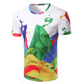 New Arrival Men 3D Colorful paint Design T-Shirt O Neck Male Casual Slim fit Top Tees Fashion T Shirt Brand Clothing