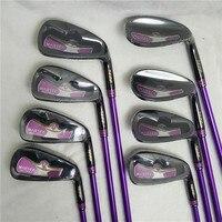 New Women's Golf Club Maruman Majesty Prestigio 9 Stylish Golf Iron Set 5 10 P.A.S Graphite L with Head Cover, Free Shipping