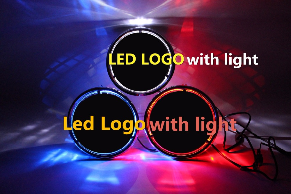 Qirun Illuminated Car LED Light Front Grille Star Logo Emblem Badge for Mercedes Benz E class