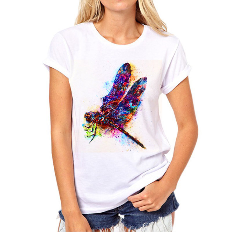 Babyoung Sommer Tops Frauen T-shirt Mode Stil Handgemachte Libelle Muster Femme Tees T Shirt Weibliche Camisetas Mujer 4xl Gepäck & Taschen