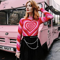 2018 Winter sweater women turtleneck Heart Unif Omighty christmas sweater pull femme hiver harajuku longsleeve red pullover