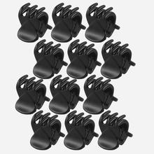 Best Sale High Quality Newest 12 Pcs Black Plastic Mini Hairpin 6 Claws Hair Clip Clamp for Ladies