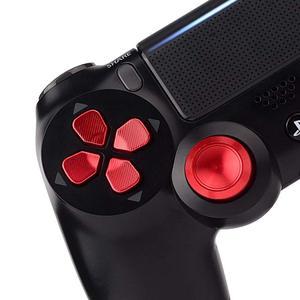 Image 5 - Metalowe nakładki na przyciski do kontrolera PS4 aluminiowe zamienniki ABXY Bullet przyciski chromowane d pad do Sony Playstation 4