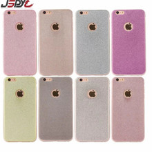 JSPYL Glitter Soft Silicone TPU Celular Case For iPhone 5 5S SE 6S 6 Plus Luxury