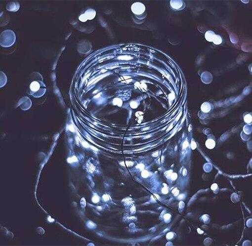 2 mt Kupferdraht LED String Lichter Wasserdicht Fairy Weihnachten ...