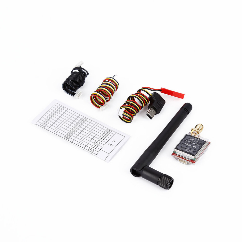 1pcs FPV 5.8G 40CH TX600S/TX200R 7-24V Wireless AV Image Transmitter for OCDAY askent s 7 1 tx