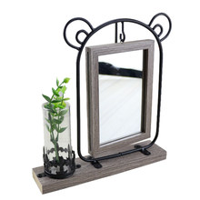 Personality With Hydroponic Ornament Photo Frame Set Table Craft 6 Inch Hanging With Mirror Frame Decoration(China)