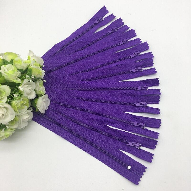 10 шт. 8 дюймов(20 см) нейлоновая катушка молнии портной шитье ремесло аксессуары для одежды Crafter's DIY Одежда Подушка инструмент портного - Цвет: Purple