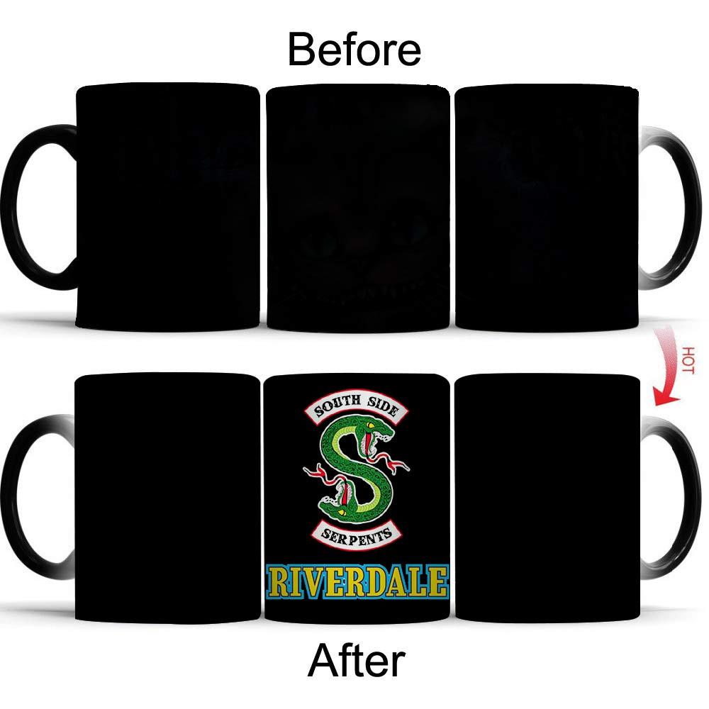 Giancomics 1Pcs Riverdale Magic Mug Cup Color Changing Mug Heat Sensitive Coffee Color Changing Ceramic Mug Hot Novelty Gift