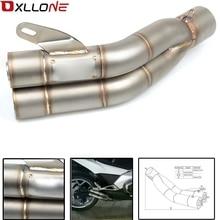 36 51mm GSX R Universal Motocicleta Silenciador Do Escape Duplo Tubo de escape Para Suzuki GSXR 600 750 1000 K1 K2 K3 K4 K5 K6 K7 K8