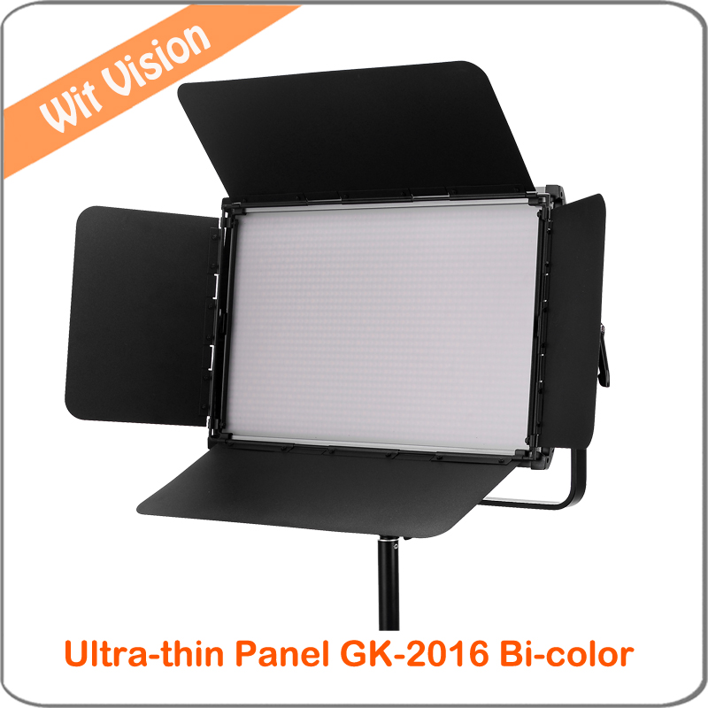 GK-2016 3200-5600K Ultra-thin 60W High CRI LED Studio Light with 2.4G Remote Control